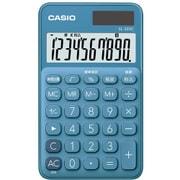 SL-300C-BU-N [ポケットサイズ電卓 10桁表示 手帳タイプ レイクブルー]