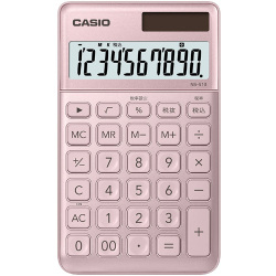 60613ad5ba カシオ CASIO NS-S10-PK-N [ポケットサイズ電卓 10桁表示 大判手帳タイプ ライトピンク]