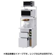 CBU339-W [レンジ台 引出3段 米びつ無し 上棚付(可変3段)]