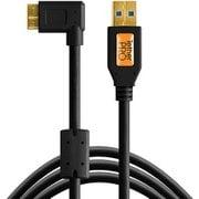 CU61RT15-BLK [テザープロ USB3.0 マイクロB ライトアングル ケーブル 4.6m ブラック]