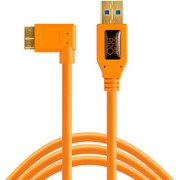 CU61RT15-ORG [テザープロ USB3.0 マイクロB ライトアングル ケーブル 4.6m オレンジ]