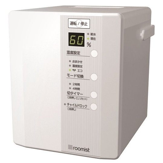 SHE35PD-W [roomist スチームファン蒸発式加湿器 和室6畳/洋室10畳まで ピュアホワイト]
