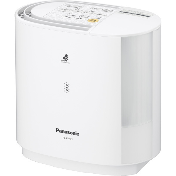 FE-KFP03-W [ヒーターレス気化式加湿器 プレハブ洋室:8畳/木造和室:5畳 ホワイト]