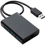 EDC-GUA3H-B [有線LANアダプタ Giga対応 USB3.0 Type-A USBハブ付 ブラック]