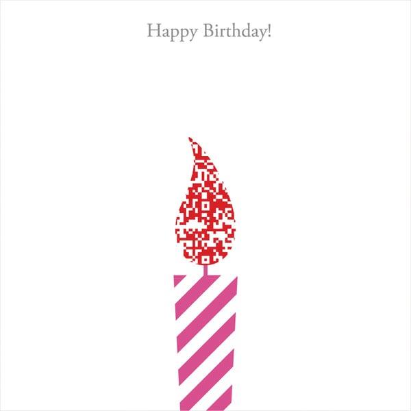 MCAA-HB003QR [インスタントムービーカード moovinカード CUTOUTシリーズ Happy Birthday]