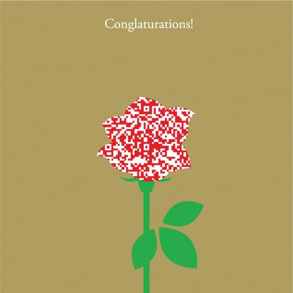MCAA-CO003QR [インスタントムービーカード moovinカード CUTOUTシリーズ Congratulations]