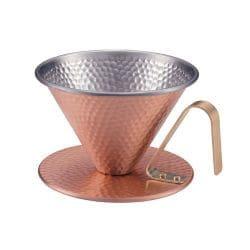 銅 コーヒードリッパー 槌目入 大 4222