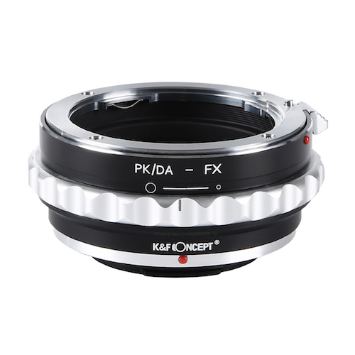 KF-DAX [マウントアダプター レンズ側:ペンタックスK(DAレンズ対応) ボディ側:フジフイルムX 絞りリング付き]