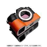 XS-CHA9OR [ソニー α9(アルファ9) 本革カメラハーフケース オレンジ]