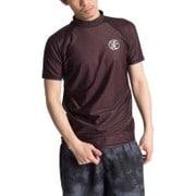 NAMITATSUラッシュガード杢調紳士半袖X414-763 Lサイズ 21 [ラッシュガード メンズ]