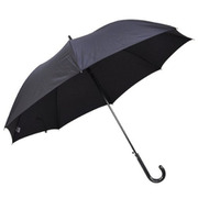 紳士長傘 無地 黒 65cm