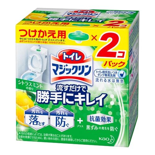 トイレマジックリン 流すだけで勝手にキレイ シトラスミントの香り つけかえ用 [2コパック]