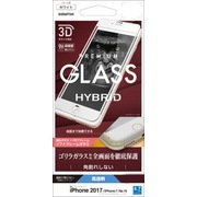 SGG856IP7SAW [iPhone 8/7/6s/6 ゴリラガラス 3D Round HYBRID GLASS ソフトフレーム 液晶保護フィルム ホワイト]
