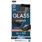 SG856IP7SAB [iPhone 8/7/6s/6 高光沢 3D Round HYBRID GLASS ソフトフレーム 液晶保護フィルム ブラック]