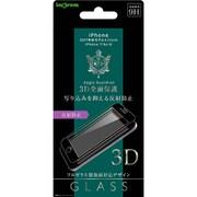 IN-P7S6RFG/HB [iPhone 8/7/6s/6 反射防止 3D 9H 全面保護 ガラス 液晶保護フィルム ブラック]