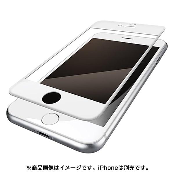 PM-A17MFLFRWH [iPhone 8/7/6s/6用 フィルム フルカバー 防指紋 反射防止 ホワイト]