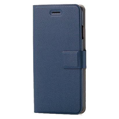 PM-A17MPLFUSNV [iPhone 8/7用 ソフトレザーカバー(手帳型) 薄型 磁石付スナップ ネイビー]
