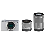 EOS M100 ダブルズームキット ホワイト [ボディ+交換レンズ「EF-M15-45mm F3.5-6.3 IS STM」「EF-M55-200mm F4.5-6.3 IS STM」]