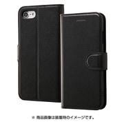 RT-P14ELC1/BB [iPhone 8/7用 手帳型ケース シンプル マグネット ブラック/ブラック]