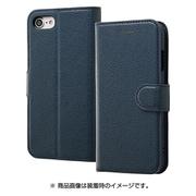RT-P14ELC1/DN [iPhone 8/7用 手帳型ケース シンプル マグネット ダークネイビー]