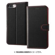RT-P15ELC1/BR [iPhone 8 Plus/7Plus用 ケース  手帳型 シンプル マグネット ブラック/レッド]