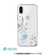 BXDVCS0007-SL [iPhone X用 Crystal Petunia case]