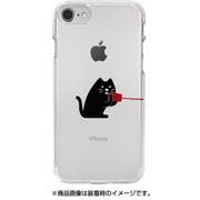 DS10423i7S [iPhone 8用 ソフトクリアケース 糸電話 話すネコ]