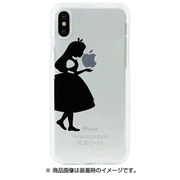 DS10375i8 [iPhone X用 ソフトクリアケース シルエットアリス]