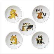 MT01 小皿5Pセット 猫の名演奏家たち