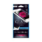 LP-I7SFGFWH [iPhone 8/7用 ガラスフィルム GLASS PREMIUM FILM フルガラス ホワイト/高光沢/G1 0.33mm]