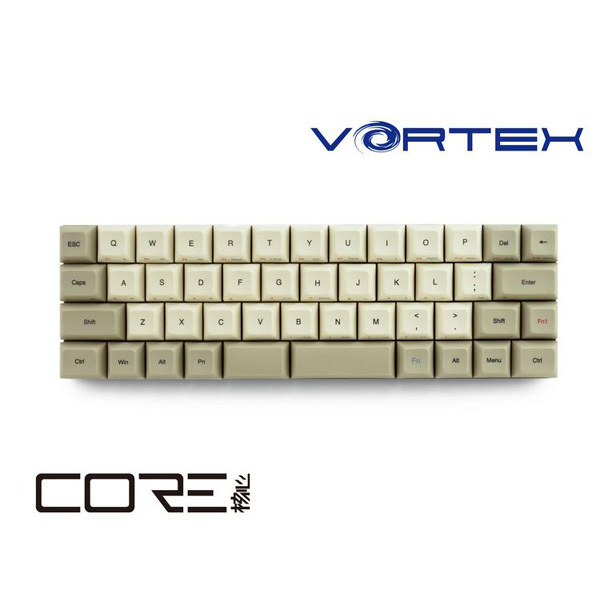 VTG47BRNBEG [VORTEX CORE 40%メカニカルキーボード マクロ機能搭載 PBT 昇華印字 英語US配列・47キー Cherry茶軸搭載モデル]