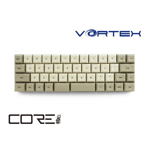 VTG47CLRBEG [VORTEX CORE 40%メカニカルキーボード マクロ機能搭載 PBT 昇華印字 英語US配列・47キー Cherryクリア軸搭載モデル]