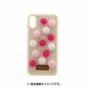 LP-I8LUHPSM [iPhone X ポンポンハイブリットケース Lucy いちごみるく]