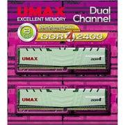 DCDDR4-2400-8GB HS [メモリ UMAX DDR4-2400 4GB×2 Dual Set]