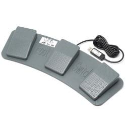 RI-FP3MG [メカニカルスイッチ搭載 USBフットペダルスイッチ 3ペダル]