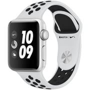 Apple Watch Series 3 Nike+ (GPS) - 38mm シルバーアルミニウムケース と ピュアプラチナ/ブラックNikeスポーツバンド [MQKX2J/A]
