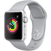 Apple Watch Series 3 (GPS) - 38mm シルバーアルミニウムケース と フォッグスポーツバンド [MQKU2J/A]