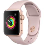 Apple Watch Series 3 (GPS) - 38mm ゴールドアルミニウムケース と ピンクサンドスポーツバンド [MQKW2J/A]