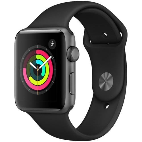 Apple Watch Series 3 (GPS) - 42mm スペースグレイアルミニウムケース と ブラックスポーツバンド [MQL12J/A]