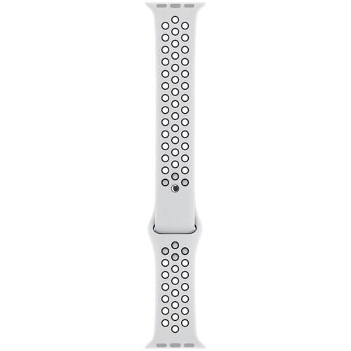 Apple Watch 38mm ケース用 Nikeスポーツバンド - S/M & M/L ピュアプラチナ/ブラック [MQWH2FE/A]