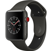 Apple Watch Edition (GPS + Cellularモデル) - 38mm グレイセラミックケース と グレイ/ブラックスポーツバンド [MQM42J/A]