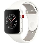 Apple Watch Edition (GPS + Cellularモデル) - 42mm ホワイトセラミックケース と ソフトホワイト/ペブルスポーツバンド [MQM52J/A]
