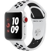 Apple Watch Series 3 Nike+ (GPS + Cellularモデル) - 38mm シルバーアルミニウムケース と ピュアプラチナ/ブラックNikeスポーツバンド [MQM72J/A]