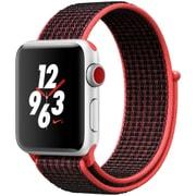 Apple Watch Series 3 Nike+ (GPS + Cellularモデル) - 38mm シルバーアルミニウムケース と ブライトクリムゾン/ブラックNikeスポーツループ [MQM92J/A]