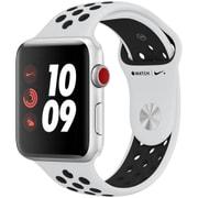 Apple Watch Series 3 Nike+ (GPS + Cellularモデル) - 42mm シルバーアルミニウムケース と ピュアプラチナ/ブラックNikeスポーツバンド [MQME2J/A]