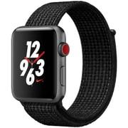 Apple Watch Series 3 Nike+ (GPS + Cellularモデル) - 42mm スペースグレイアルミニウムケース と ブラック/ピュアプラチナNikeスポーツループ [MQMH2J/A]