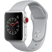 Apple Watch Series 3 (GPS + Cellularモデル) - 38mm シルバーアルミニウムケース と フォッグスポーツバンド [MQKF2J/A]