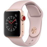 Apple Watch Series 3 (GPS + Cellularモデル) - 38mm ゴールドアルミニウムケース と ピンクサンドスポーツバンド [MQKH2J/A]