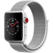 Apple Watch Series 3 (GPS + Cellularモデル) - 38mm シルバーアルミニウムケース と シーシェルスポーツループ [MQKJ2J/A]