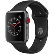 Apple Watch Series 3 (GPS + Cellularモデル) - 42mm スペースグレイアルミニウムケース と ブラックスポーツバンド [MQKN2J/A]